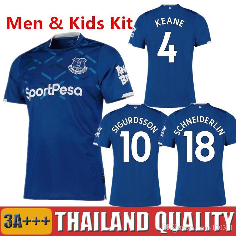 low priced 38d46 4096c 19 20 Everton soccer jerseys 2019 RICHARLISON SIGURDSSON football shirt set  2020 CENK TOS WALCOTT ANDRE GOMES BERNARD men kids kit uniform