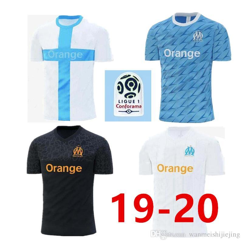 buy popular d3f09 31b0e NEW Olympique de Marseille Soccer jersey 2019 20 League 1 Marseille Maillot  De Foot balotelli L.GUSTAVO THAUVIN 19 20 Marseille jersey shirt