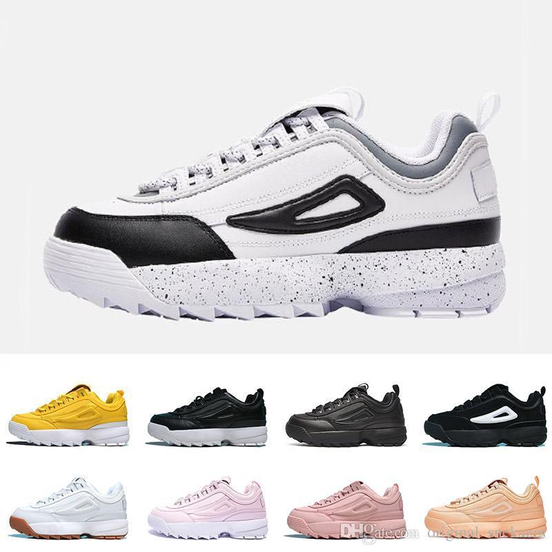 Fila Disruptor 2 chaussures de course TRIPLE noir blanc sable formateurs mens nouvelle section spéciale de concepteur baskets de sport augmenté