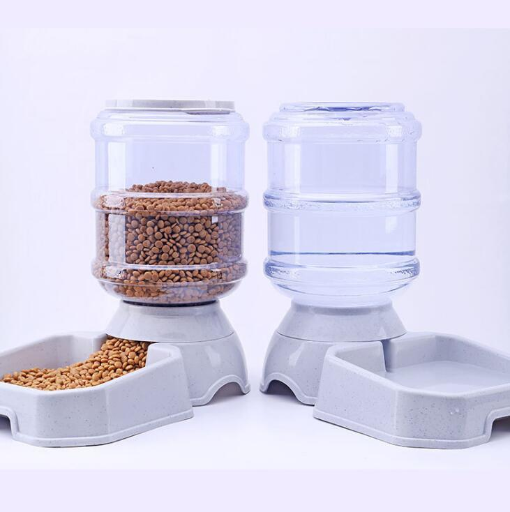 3.8L pet automatic feeder dog cat water drinking cat feeding large capacity dispenser pet bowl dog