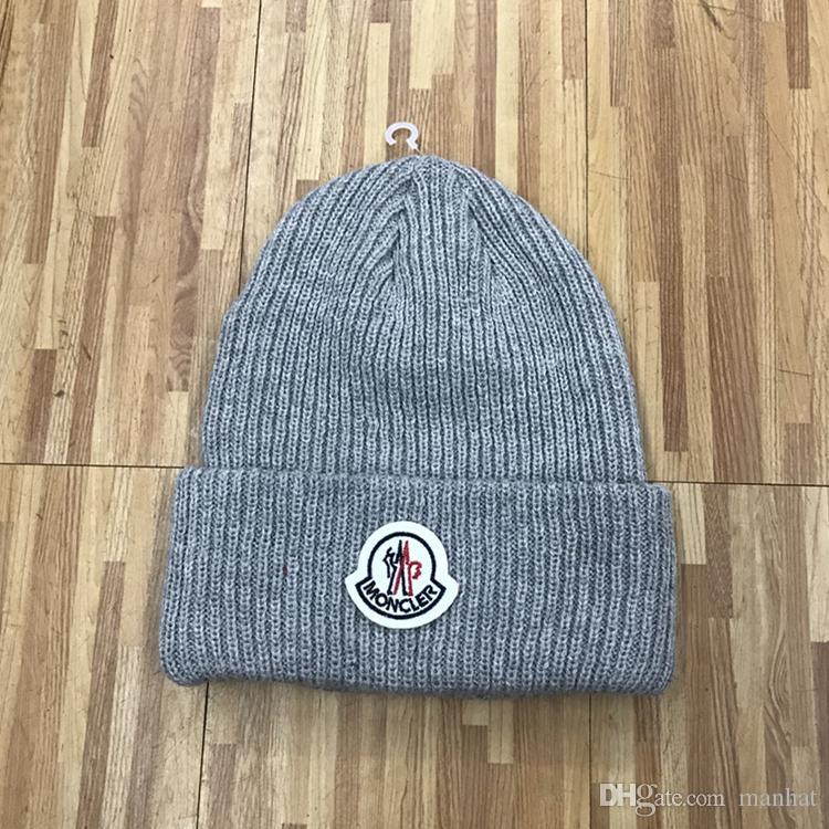 6fa1520a4facb High Quality Fashion Winter Brand Mon CANADA Men Beanie Bonnet Women Goose  Knitting Hip Hop Gorros Pom Pom Skull Cap Hair Ball Outdoor Hats Hats For  Sale ...