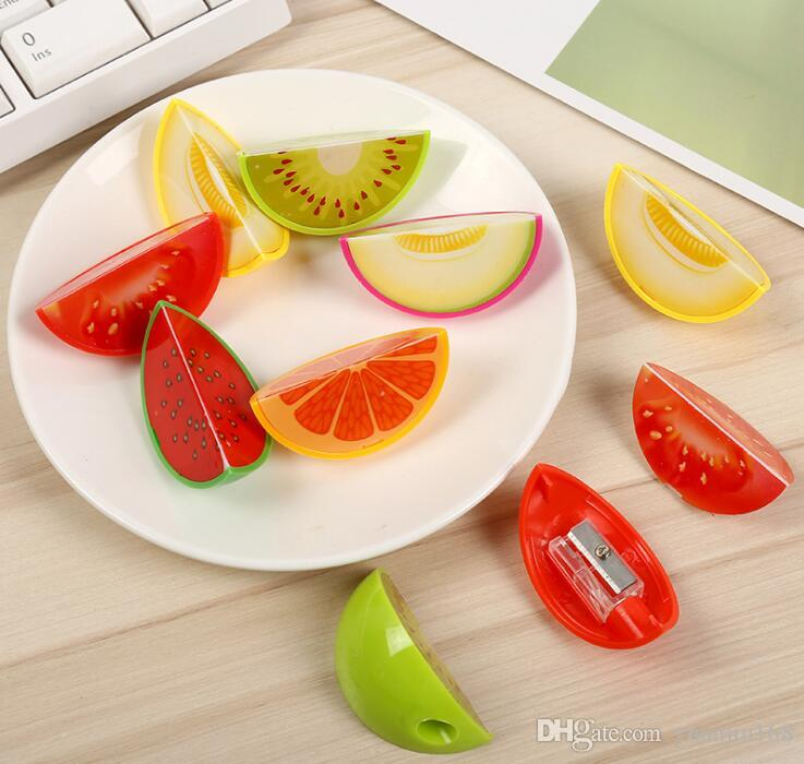 Novelty Fruit Plastic Pencil Sharpener Pencil Cutter Knife Korean Stationery School Supplies Papelaria GB1111