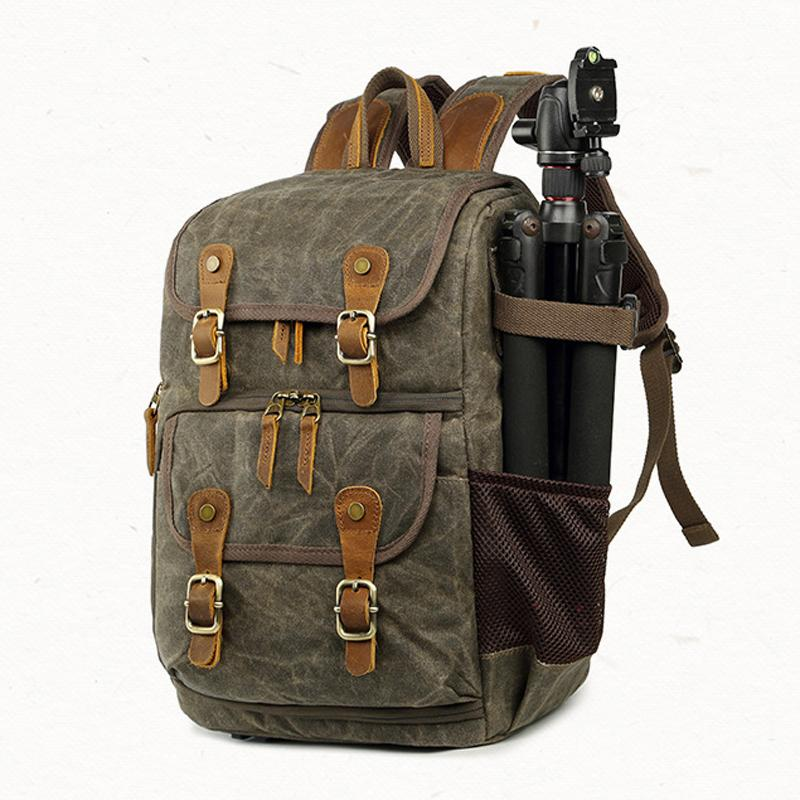 2365bc9498ac Vintage Waterproof Backpacks For Men S High Quality Canvas Casual Backpack  Male Out Door SLR Camera Backpack Travel Bag Designer Backpacks College  Backpacks ...