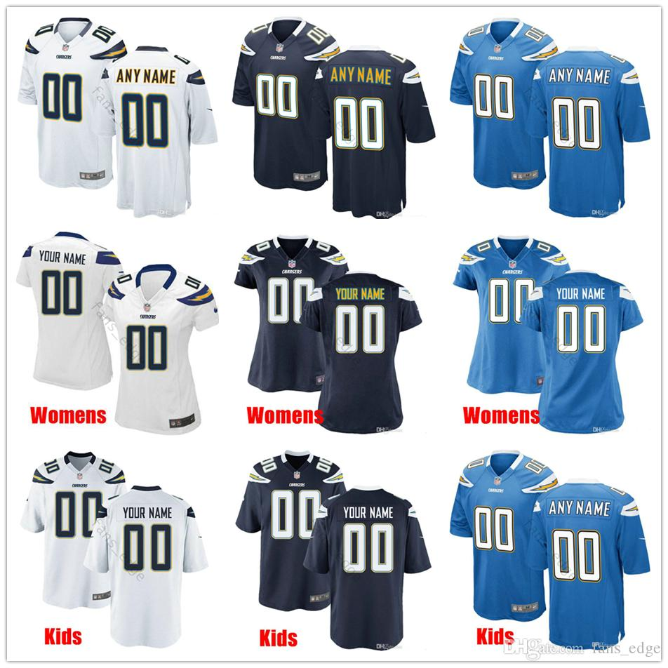 newest c3a63 cf38b Custom New Los Angeles 33 Derwin James Jr 13 Keenan Allen 21 LaDainian  Tomlinson 28 Melvin Gordon Men Women Youth Chargers Stitched Jerseys