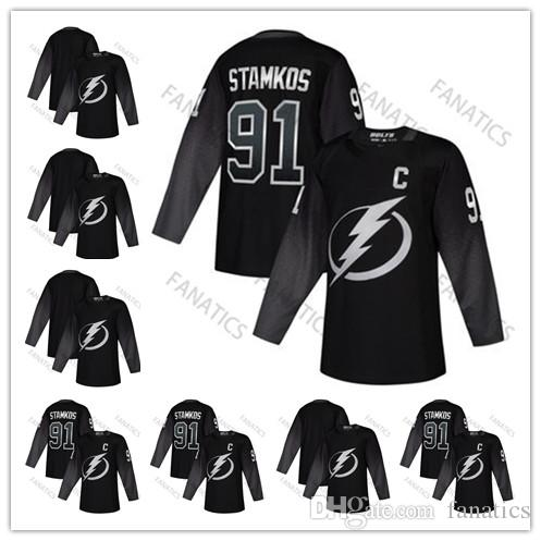 on sale c76a2 f0fd2 2019 Cheap Mens Tampa Bay Lightning Third Jersey Alternate Jersey 86 Nikita  Kucherov 91 Steven Stamkos Blank Black Wholesale Jersey