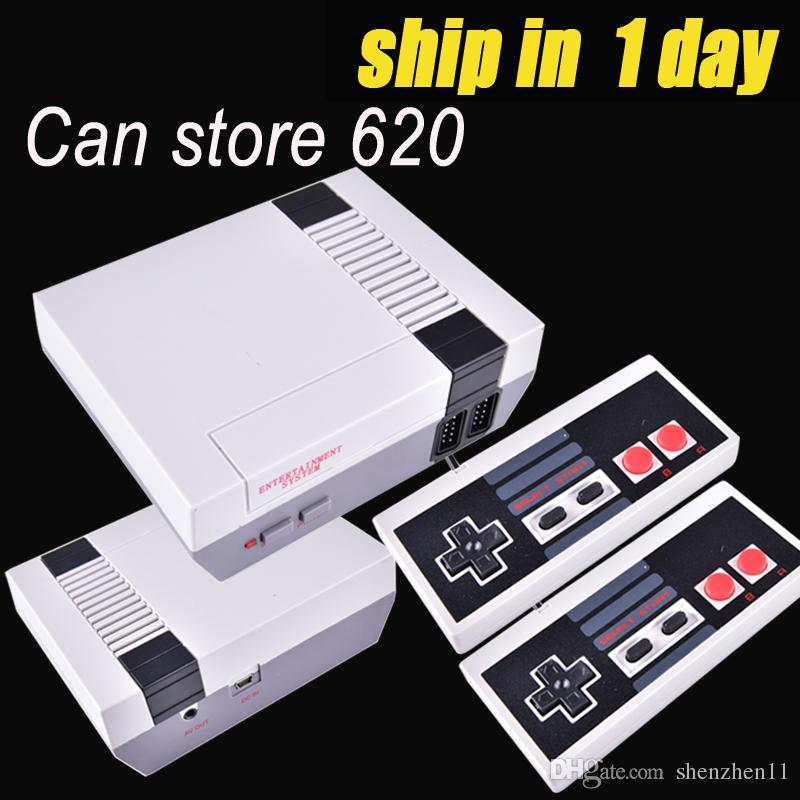 Hot sale Mini TV Game Console can store 620 games Video Handheld for NES games consoles with retail boxs free shipping OTH733