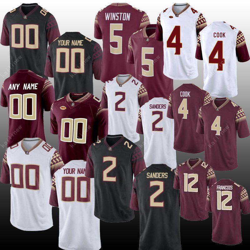 new concept caca2 b2cbd Men NCAA jersey Florida State Seminoles 3 Derwin James 4 Cook 5 Jameis  Winston 2 Deion Sanders 12 FRANCOIS American College Football jerseys