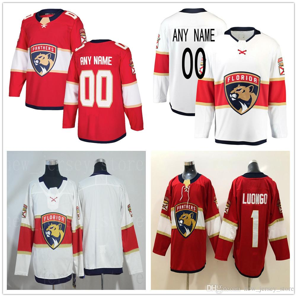 Acheter Maillot De Hockey Personnalise Florida Panthers Rouge Blanc