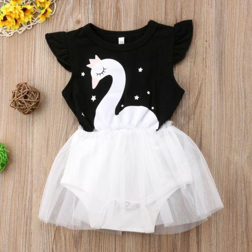 Emmababy Hot Cute 2019 Newborn Kid Baby Girl Infant Romper Jumpsuit Clothes Tutu Dress Outfits Lovely baby girl clothes