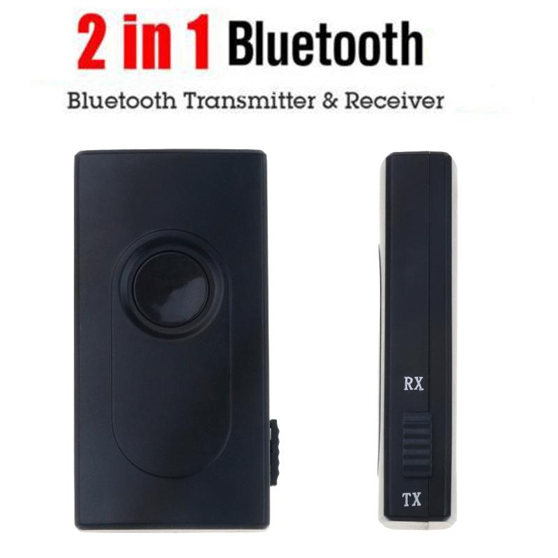 2 em 1 Bluetooth Transmitter Receiver Kit Car estéreo de 3,5 mm Wireless Music Cabo de áudio Dongle V4.2 adaptador para TV DVD Mp3 Player