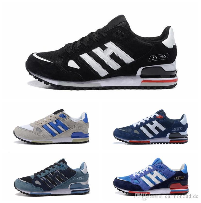 brand new 241cf 35fe1 Adidas Scarpe da tennis originali EDITEX Originals ZX750 zx 750 per uomo e  donna Scarpe da corsa traspiranti atletiche Spedizione gratuita