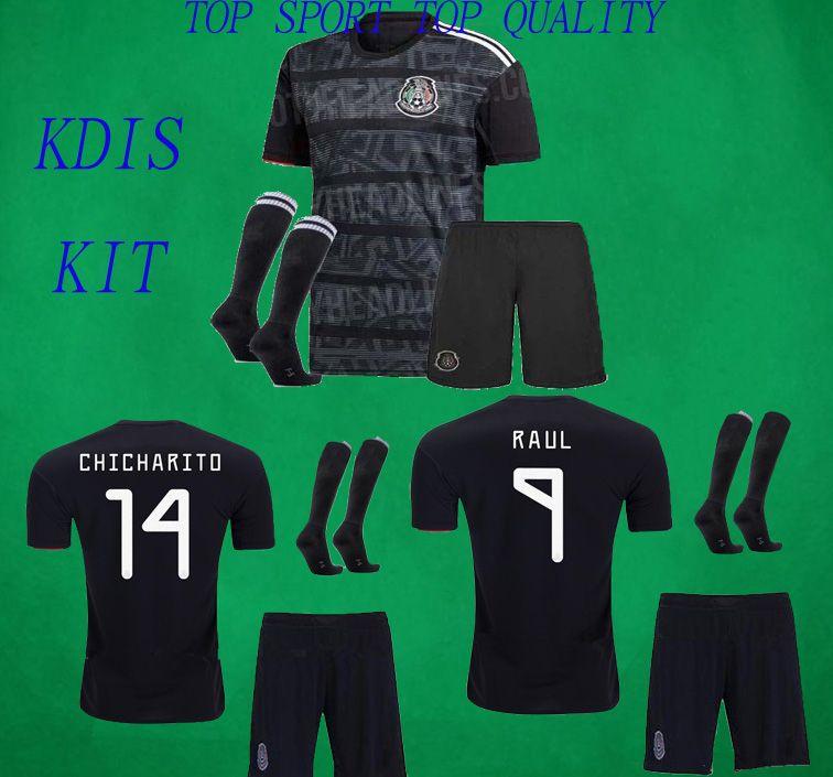 Kids Mexico Soccer Kit 19 20 H  LOZANO VELA CHICHARITO GUARDADO Football  Shirt Pants Children Soocer Jersey Shorts Socks Boys Sports Sets
