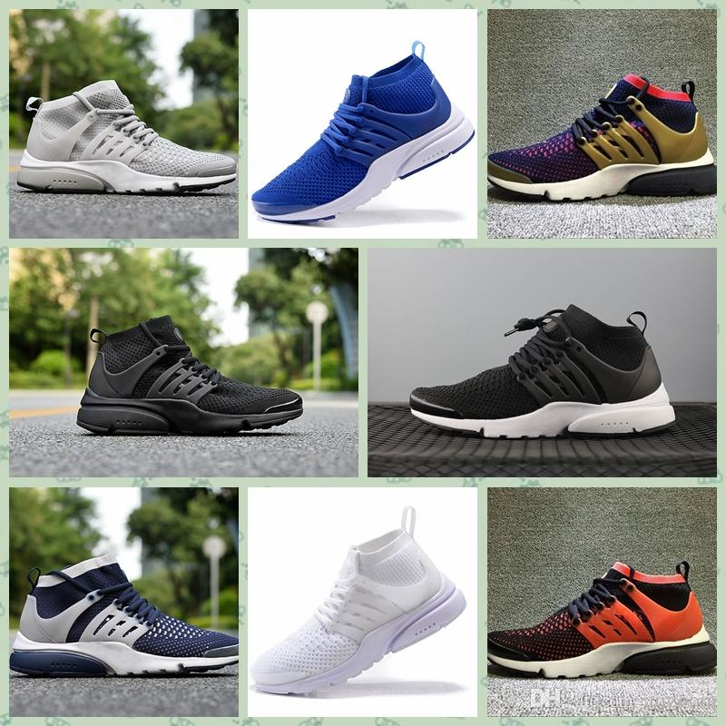 NPSTH1 New Arrival Men Prestos High Top Knitting Shoes Mens Zapatos Prestos Ultra Trainers Shoe Chaussures Femme Shoes Sizes EUR40-46