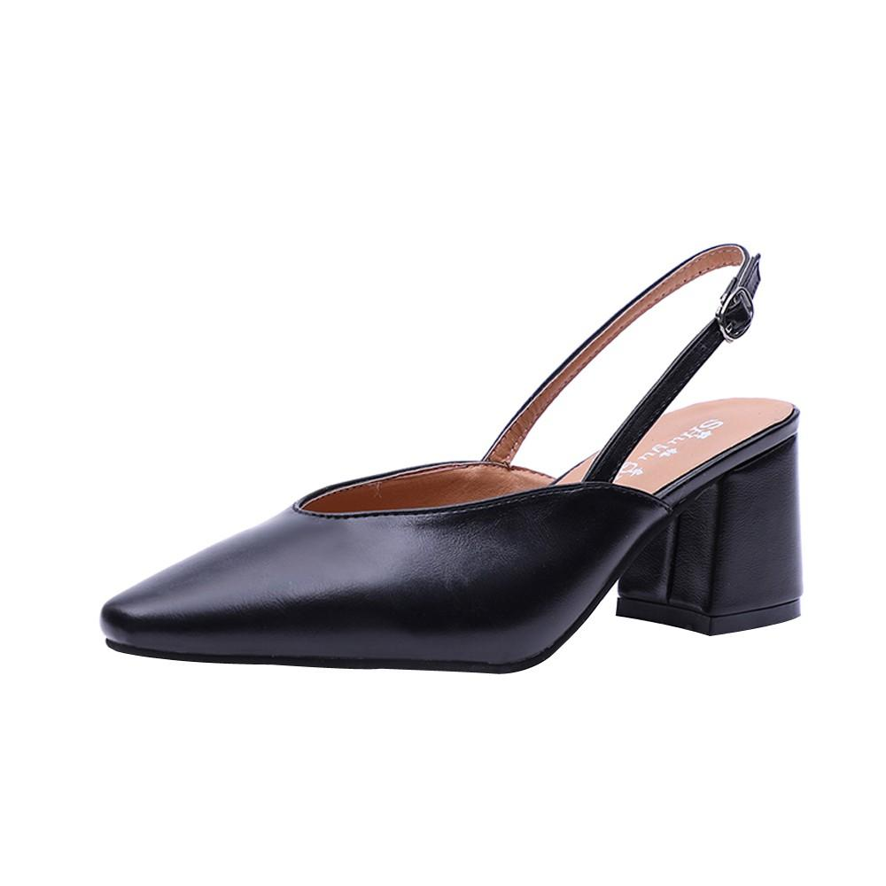 5dff89506dd Fashion Women Ladies Pointed Toe Slip-on Hoof Heels Party Leisure Shoes  Leisure Korean Style 20181106 Online with  56.32 Piece on Afantishoe s  Store ...