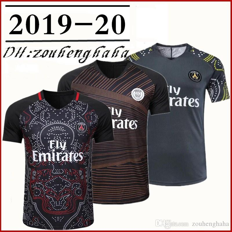 on sale e8c12 825db PSG Squad Training Shirt soccer Jersey 2019 20 Paris Limited Edition MBAPPE  CAVANI ZLATAN MAILLOT CAMISA DI MARIA football shirts