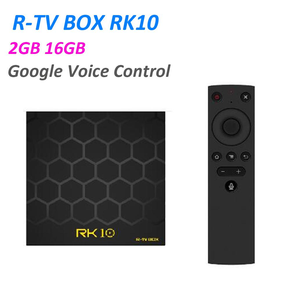 Android TV OS R-TV BOX RK10 Smart TV Box Voice Remote Control RK3328 Quad  core 2GB RAM 16GB ROM WIFI USB3 0 3D 4K HDR10 SetTop Box IPTV