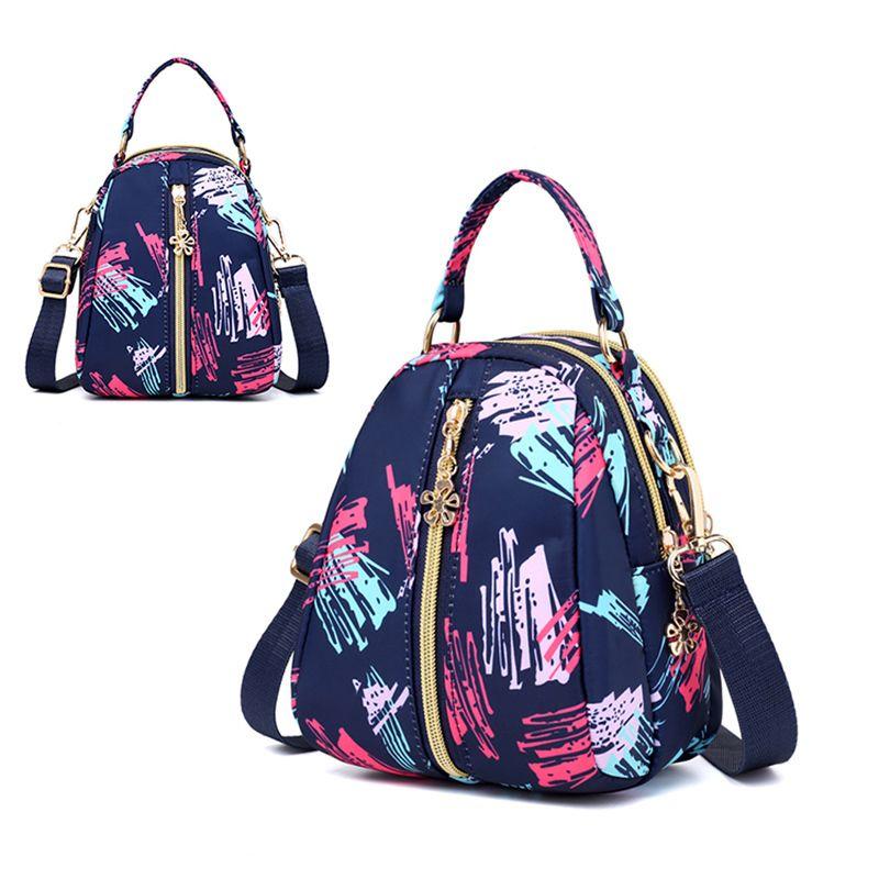 Flowers Cartoon Print Women S Bag Shoulder Bag Women Messenger Bags Canvas  Waterproof Nylon Bolsos Bag Dakine Backpacks Back Pack From Hopemoney06 4f48b3941e9a1