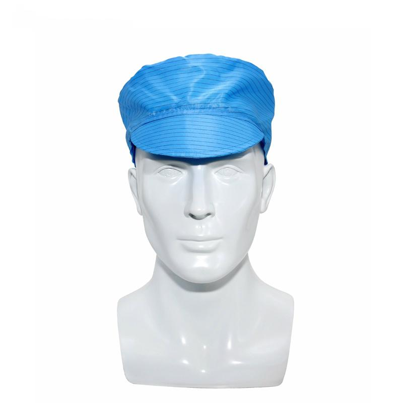 Workplace Safety Blue Unisex Hat Anti-Static ESD Cleanroom Bouffant Hat  Antistatic Cap For Electronics Industry