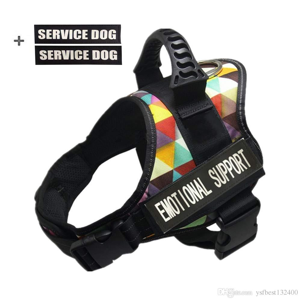 Dog Harness, Service Dog Vest, No Pull No Choke Dog Vest for Large Medium Small Dogs Training Walking Jogging
