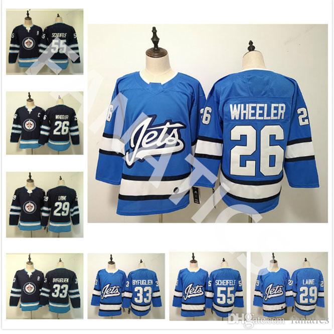 a61b78adc 2019 Top Cheap Winnipeg Jets Men S Women S Youth 26 Blake Wheeler 29 Patrik  Laine 33 Dustin Byfuglien 55 Mark Scheifele Blank Hockey Jerseys From  Fanatics