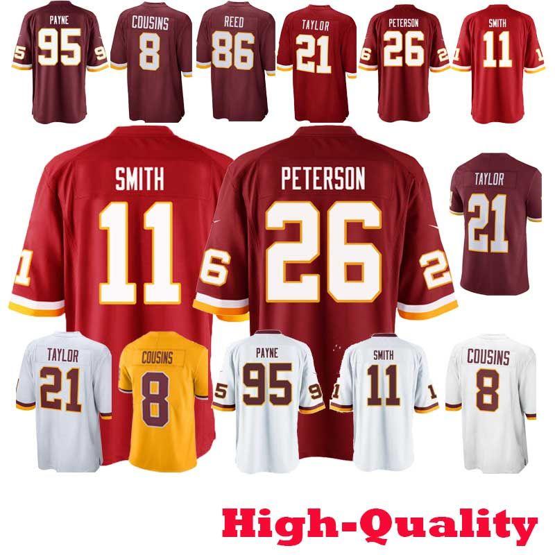 84bf8a62 New Sales promotion 11 Alex Smith Washington jerseys 26 Adrian Peterson  Redskins 91 Ryan Kerrigan 21 Sean Taylor cheap fine