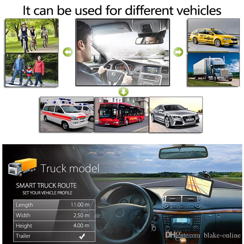 9-Zoll-LKW-GPS-Navigator mit Sunshade Shield Auto Car Sat NAV FM Bluetooth Avin Navigation Integrierte 8g Karten
