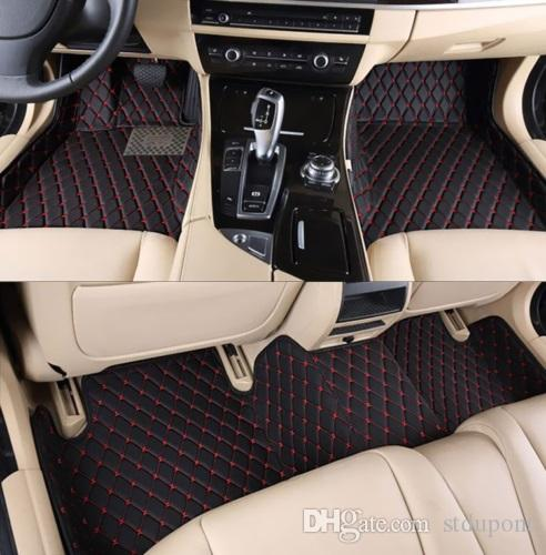 For Lexus LX450 LX470 LX570 2007-2015 Car Floor Mat Front & Rear Liner  Accessories Non-slip waterproof leather Carpets Auto Luxury Pads LOGO