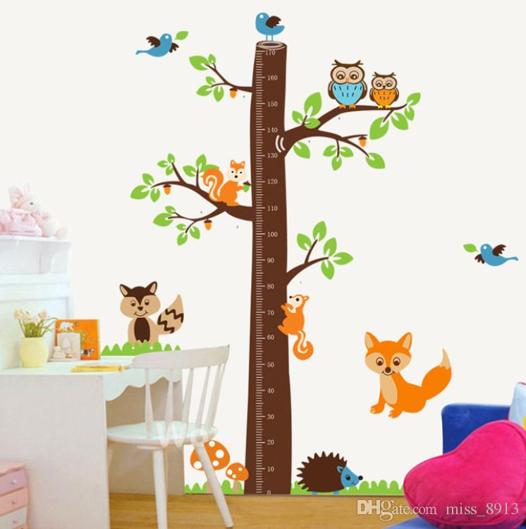 1PC Jungle Animals Giraffe Lion Monkey Elephant Kids Room Wall Sticker Kids Nursery Baby Room Decor