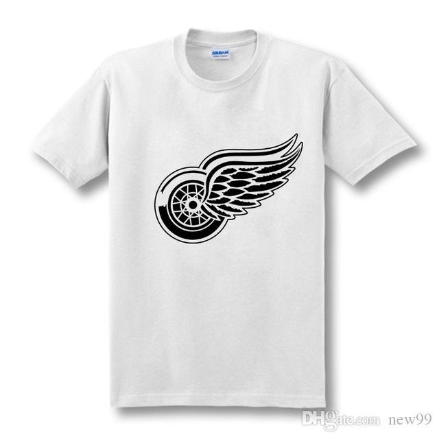low priced 37417 6853d 2019 men s designer clothing tshirt New Detroit Red Wings T-shirt cotton  Big & Tall Logo Fashion Wings Short Sleeve hip hop t shirt