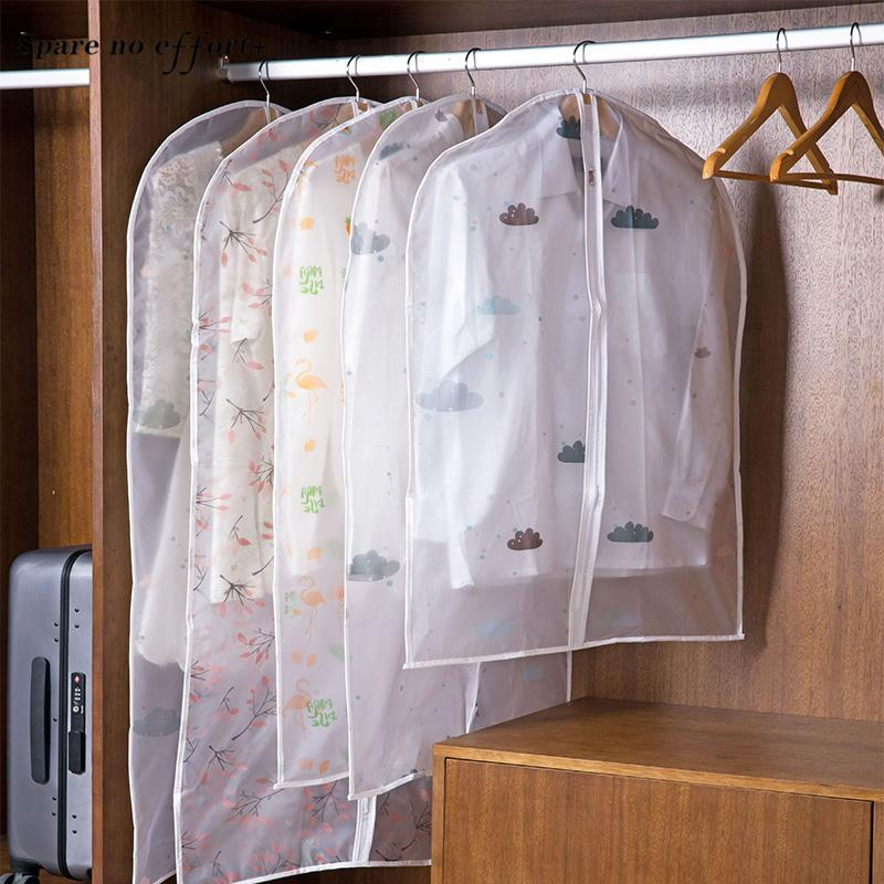 Dust Covers Clothes Organizer Home Clothing Dust Covers Clothes Suit Garment Transparent Wedding Dress Cover with Zipper