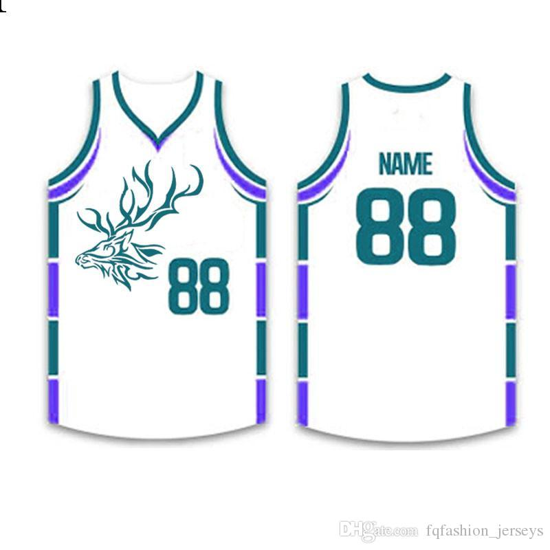 Mens 2020 Jersey Top stitched Logos Basketball Wear High quality S-XXXL Cheap wholesale roidery Logos Blue White599999999