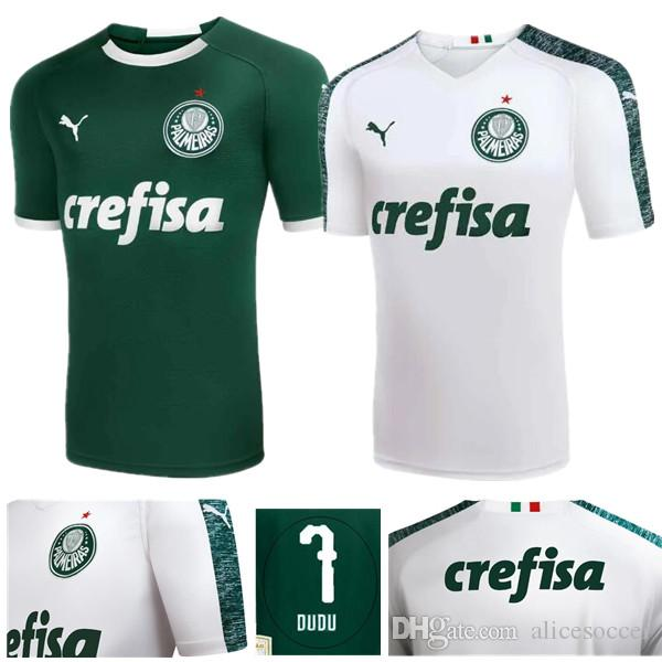 e1cb31990 2019     Wholesale 2019 Palmeiras Home Away Soccer Jerseys Thai AAA Quality  Custom Name Number Dudu 7 Soccer Uniforms Football Shirts Clothing From ...