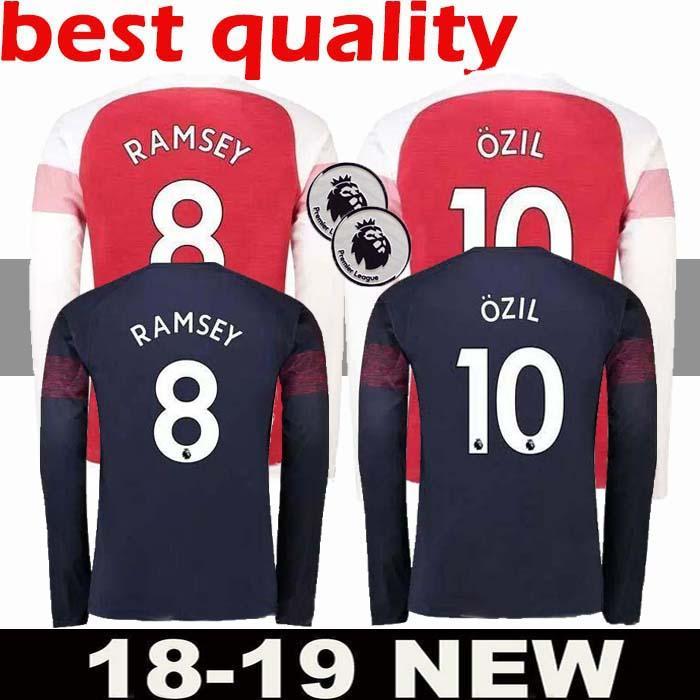 5e8e512f8 ... australia 2018 new 2018 19 arsenal 10 ozil 9 lacazette home long sleeve  soccer jerseys 2019