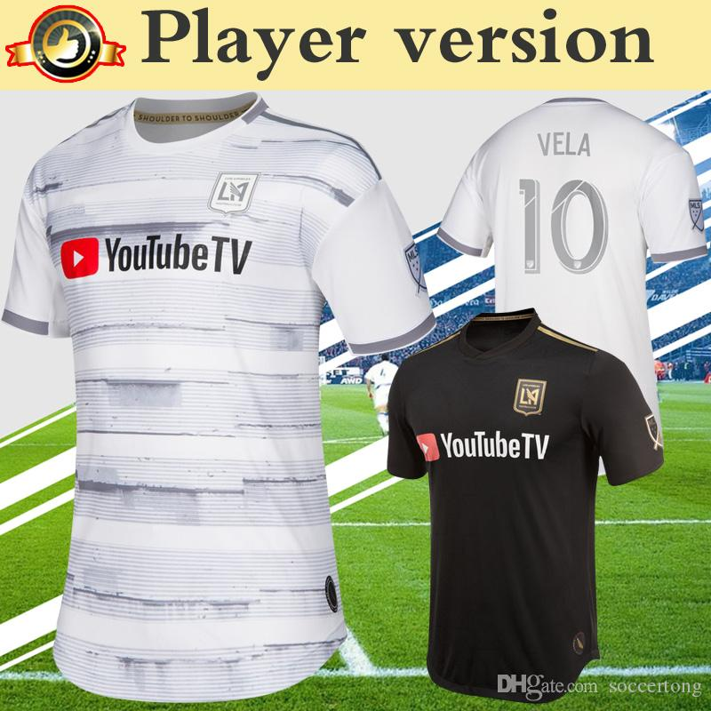 16b115c57 2019 Player Version MLS 2019 LAFC Soccer Jersey Home Black Away Grey White Los  Angeles FC ROSSI VELA DIO 2020 Football Shirt From Soccertong
