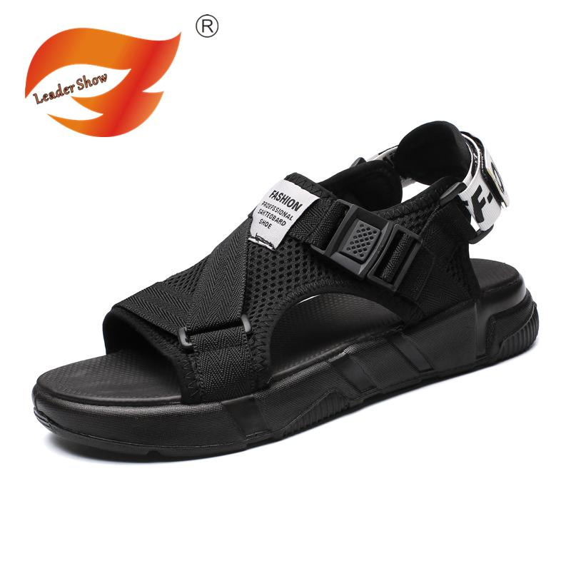 95313af60761 Fashion Men Sandals 2018 Summer Beach Sandals Gladiator Men s ...