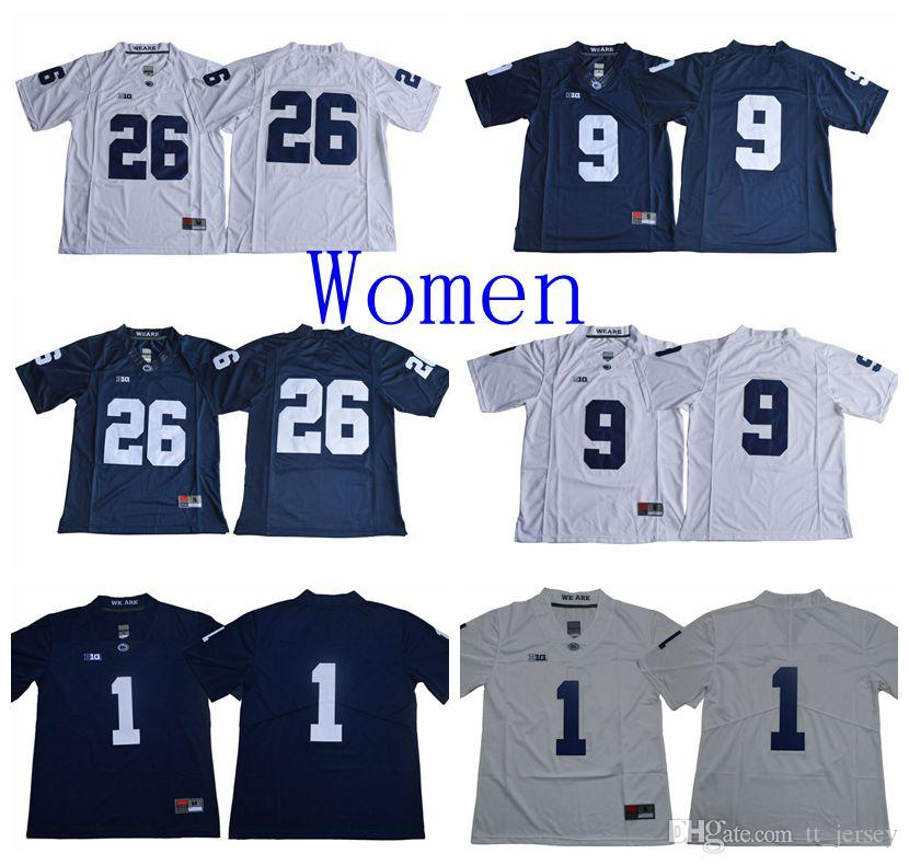664e7560 2019 NCAA College Women Jersey Penn State Nittany Lions 1 KJ Hamler 26  Saquon Barkley 9 Trace McSorley Jersey White Navy Football Jersey From  Tt_jersey, ...
