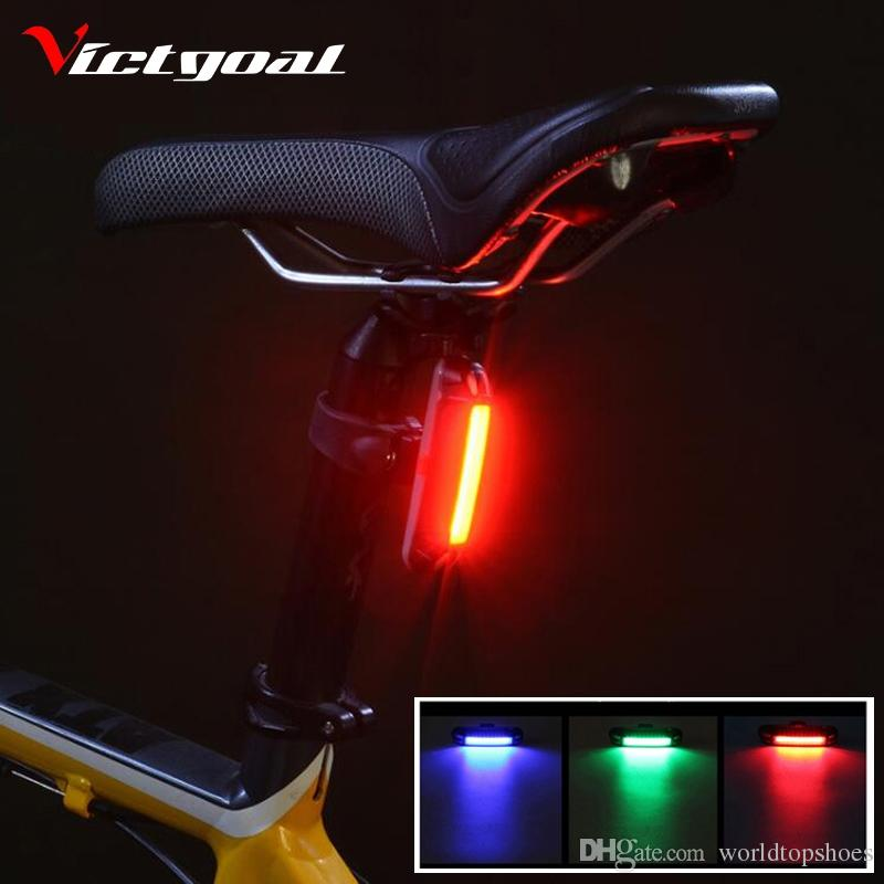 VICTGOAL Bike Light USB Rechargeable Bicycle Backlight LED Bike Rear Light Waterproof Cycling Safety Lights MTB Warning Lamp #106606