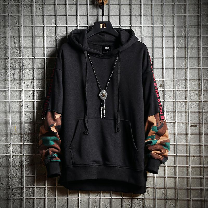 Drawstring Autumn Oversized And 2018 2018 Hoodies Letter Sleeve 8tgnOYT