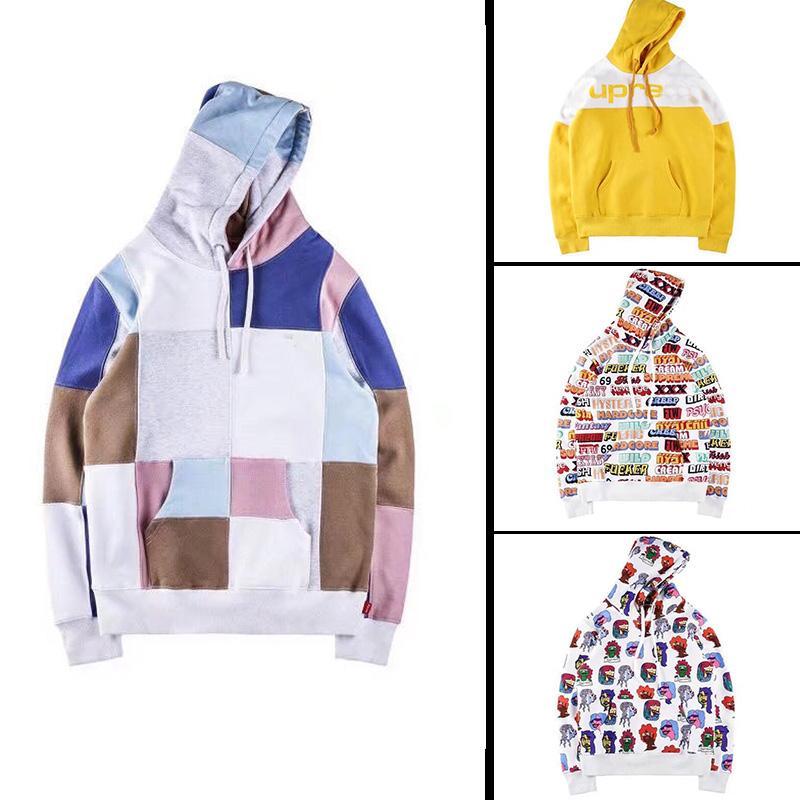 205746b183959 Acheter 2018 Hiver Aw Design De Mode Pour Hommes De Luxe Marque Hoodies À  Capuchon Hommes Occasionnels Sport Sweat À Manches Longues Hommes Vêtements  Tops ...