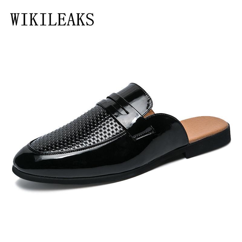 9f9c8be9bae Acheter Pantoufles De Designer Chaussures En Cuir Hommes Chaussures Luxe  Marque Mocassins Chaussures Pour Hommes Mule Masculino Mules De  51.09 Du  Gospurs ...