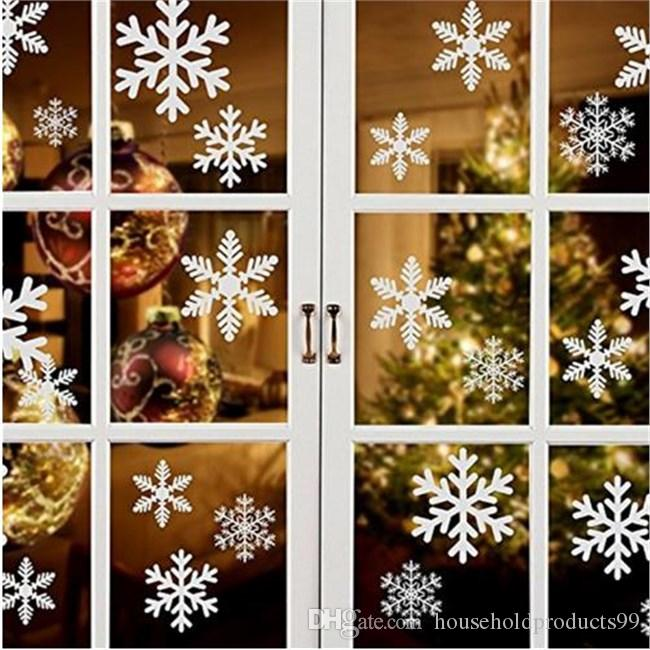 27pcs/set Christmas Snowflake Window Sticker Winter Glass Door Wall Decal Xmas New Year Decor Stickers for Shopping Mall Window