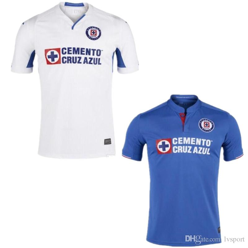 eeb0acdde58 Thailand 2019 2020 Mexico Club New Cruz Azul Liga MX Soccer Jerseys ...