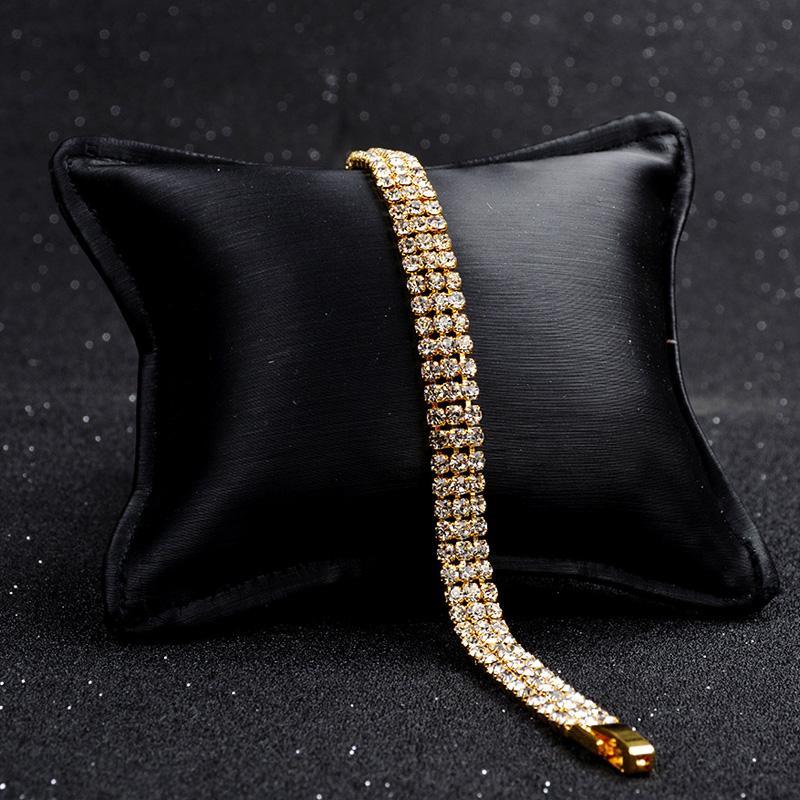2018 neue charme hochzeit armband für frauen österreichischen kristall braut armbänder armreifen mode silber gold farbe schmuck geschenk