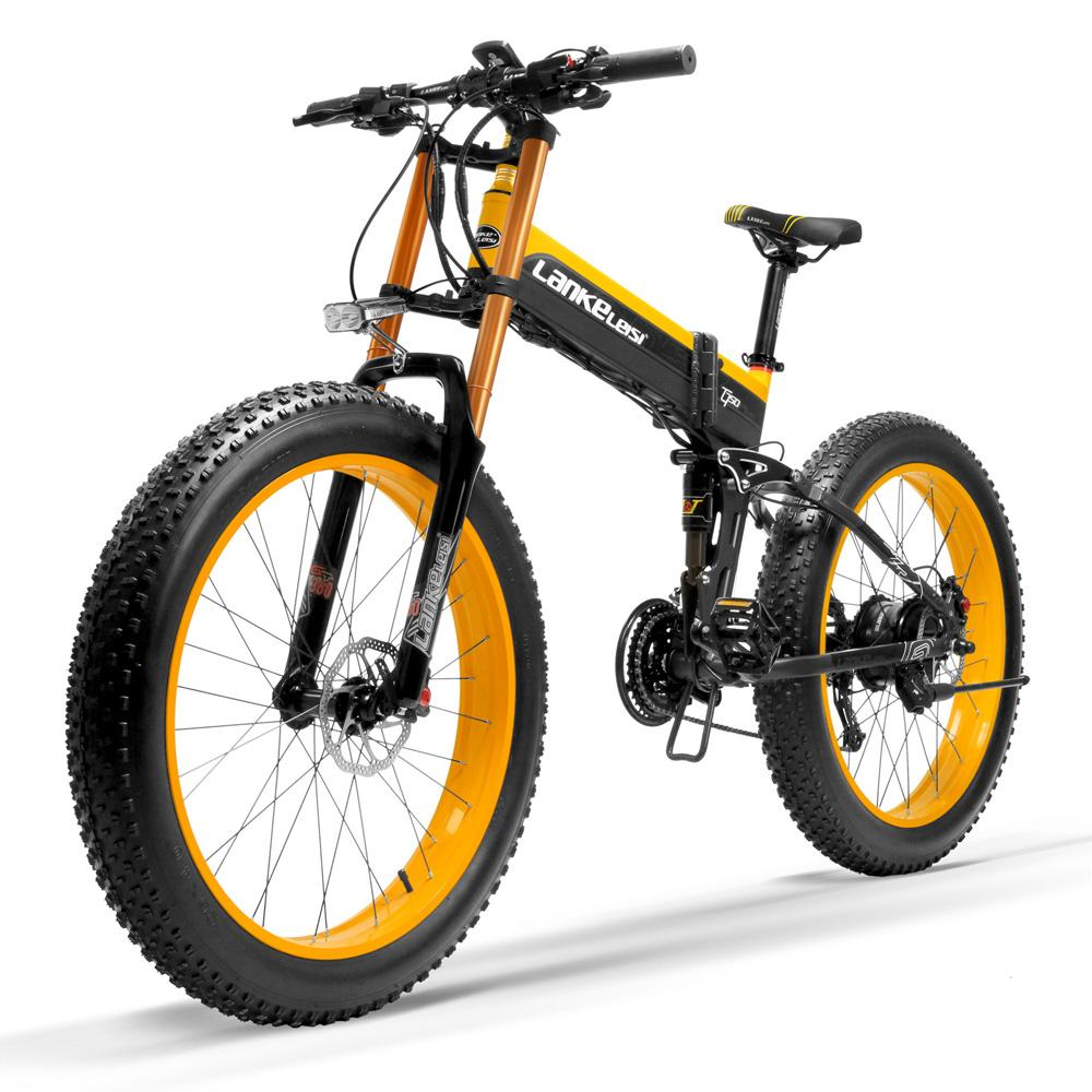 T750Plus 5-Level Pedal Assist Sensor Electric Snow Bike,Upgraded to Downhill Fork,Powerful Motor,High Performance Li-ion Battery