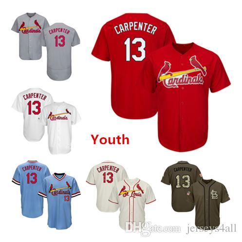 288121162 ... wholesale 2019 youth kids child cardinals baseball jerseys 13 matt  carpenter jersey cream white red gray