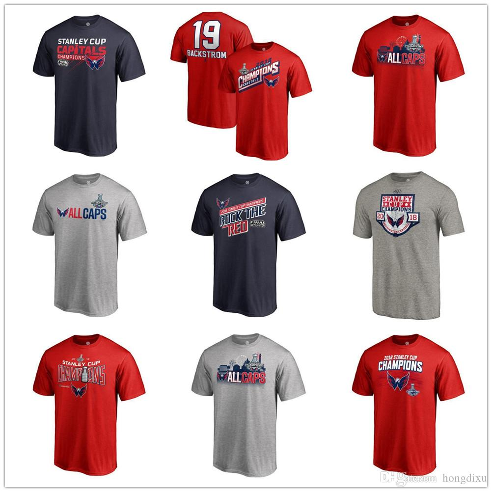 2019 Stanley Cup Champions T Shirt Washington Capitals Ovechkin TJ Oshie  Holtby Tom Wilson Kuznetsov Smith Pelly Nicklas Backstrom NHL T Shirts From  ... bfaa15875