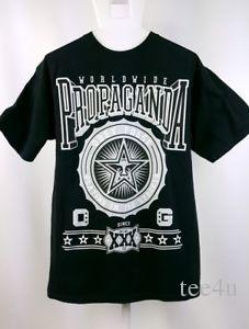 Camiseta para hombre talla mediana Obey World Wide Propaganda Graphic Negro