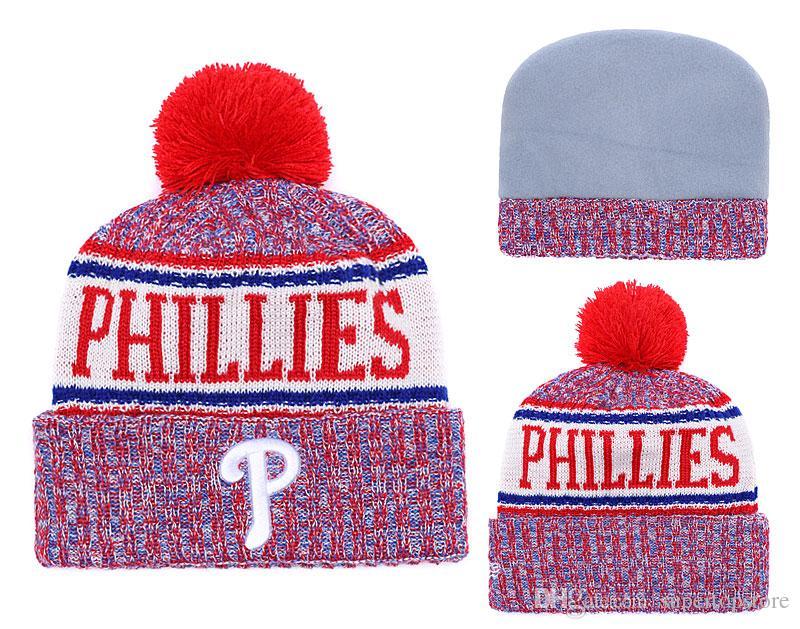 0965603c72f NEW Men s Philadelphia Knitted Cuffed Pom Beanie Hats Striped ...