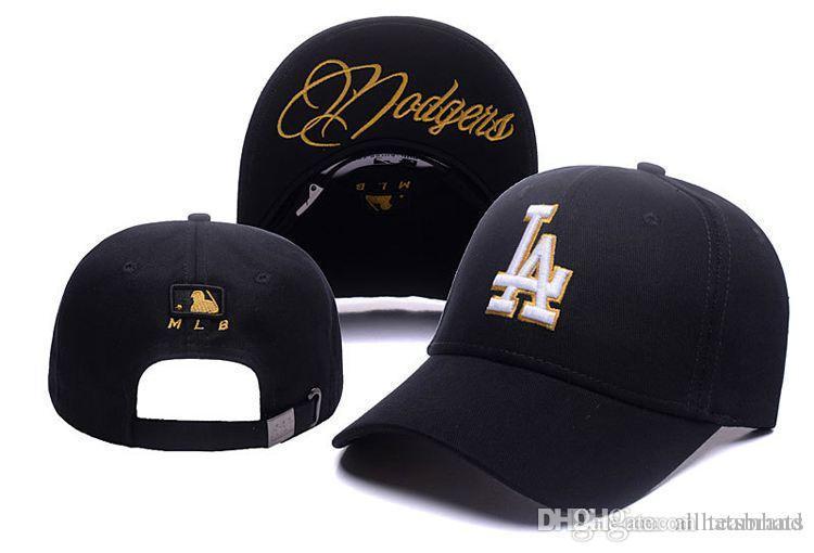 2637f1f0304 Wholesale Luxury Brand Designer Hats Caps Hats Embroidery LA Letters Snapback  Baseball Cap Sport NY Cap Black Luxury Brand Cap For Men Women Flexfit Cap  Ny ...
