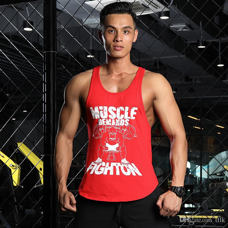 Super quality Men Summer gyms Fitness bodybuilding Tank Top Cool mens Crossfit clothing breathable sleeveless shirts Vest